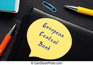 page., σήμα , τράπεζα , κεντρικός , για , γενική ιδέα , επιχείρηση , ευρωπαϊκός