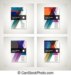 page., 使用, レイアウト, a4, 背中, ページ, パンフレット, ベクトル, デザイン, フライヤ, ...