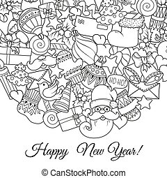 page., 着色, セット, テキスト, グリーティングカード, 本, templates., 陽気, パターン, モノクローム, 休日, クリスマス, クリスマス