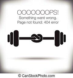 page, 404, -, erreur, inhabituel