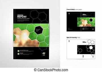page., anual, espalda, folleto, template., design., uso, ...