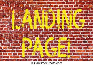 page., arte, parete, foto, wall., graffito, un altro, web, scrittura, nota, scritto, chiamata, mattone, sito web, affari, scattare, esposizione, motivazionale, atterraggio, collegamento, come, showcasing, accessed, pagina