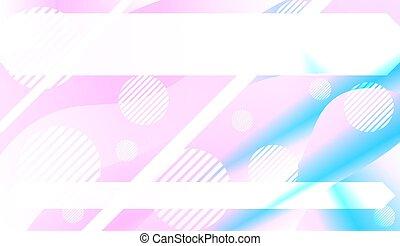page., banner, gradient., effect., dynamik, abstrakt, afdækket, illustration, farve, vektor, konstruktion, baggrund, reklame., din