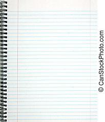 page., blanc, revêtu, bloc-notes