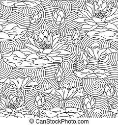 page., colorido, adulto, antistress