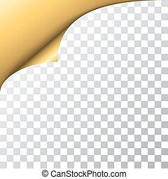Page corner turn transparent