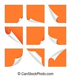 Page curl vector