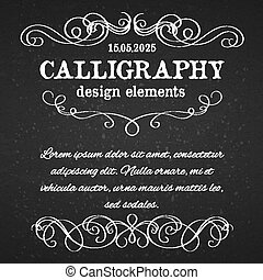 page decoration calligraphic design elements template