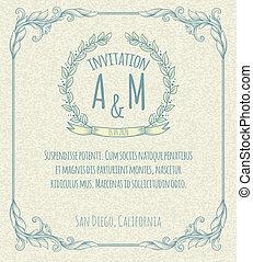 page decoration template vintage frame