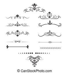 Page dividers set. Decorative elements