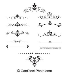 Page dividers set. Decorative elements