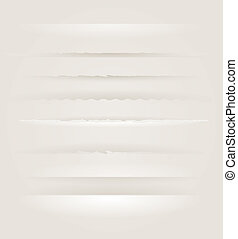 Page dividers vector collection