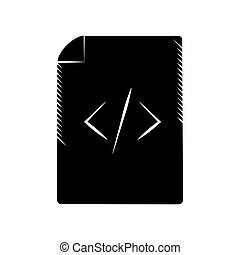 page html coding web pictogram vector illustration eps 10