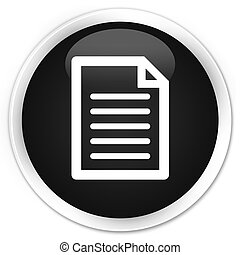 Page icon black glossy round button