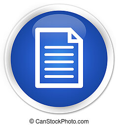Page icon blue glossy round button