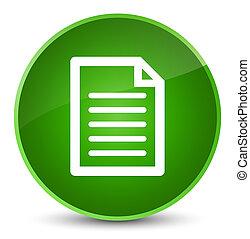 Page icon elegant green round button