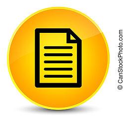 Page icon elegant yellow round button