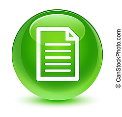 Page icon glassy green round button
