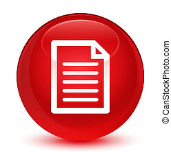 Page icon glassy red round button