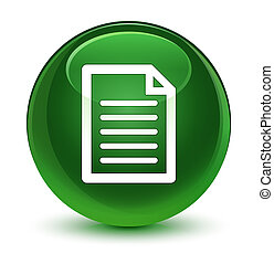 Page icon glassy soft green round button