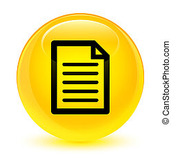 Page icon glassy yellow round button