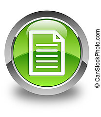 Page icon glossy green round button