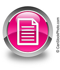 Page icon glossy pink round button