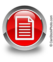 Page icon glossy red round button