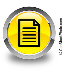 Page icon glossy yellow round button