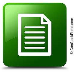 Page icon green square button