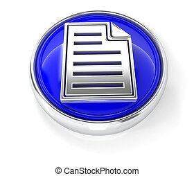Page icon on glossy blue round button