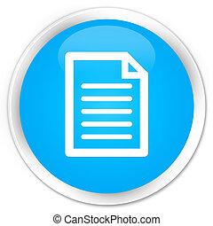Page icon premium cyan blue round button
