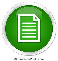 Page icon premium green round button