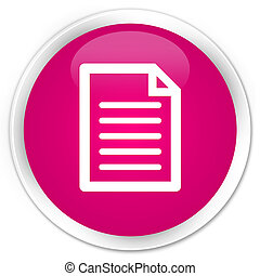Page icon premium pink round button