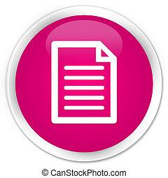 Page icon premium pink round button