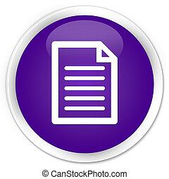 Page icon premium purple round button