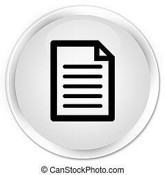 Page icon premium white round button