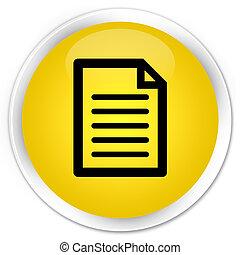 Page icon premium yellow round button