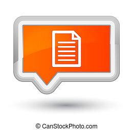 Page icon prime orange banner button