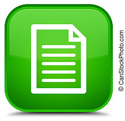 Page icon special green square button