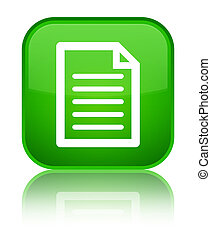 Page icon special green square button