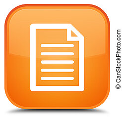 Page icon special orange square button