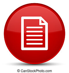 Page icon special red round button