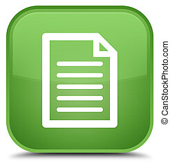 Page icon special soft green square button