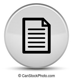 Page icon special white round button