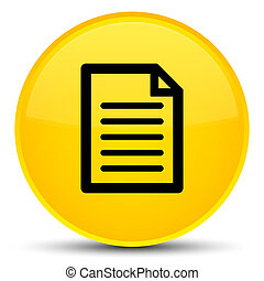 Page icon special yellow round button