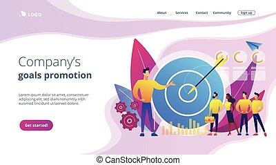 page., marketing, concetto, interno, atterraggio