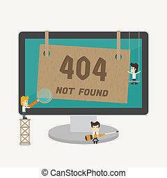 Page not found, 404 error , eps10 vector format