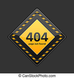 Page not found sign, error 404, vector eps10 illustration