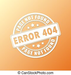 Page not found stamp